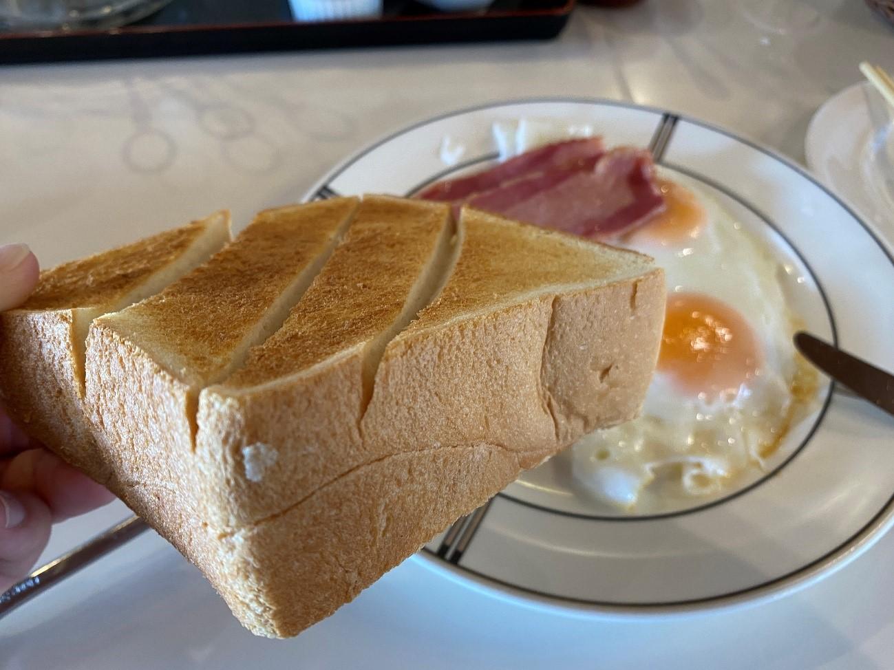 ヘレナ国際カントリー俱楽部の朝食パン